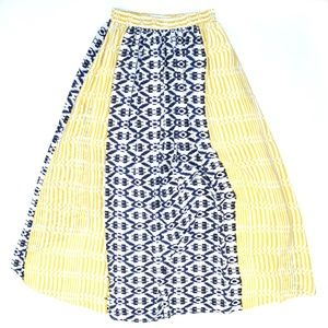 Anthropologie Skirts - ANTHROPOLOGIE FUNKTIONAL High-Low Silk Ikat Skirt